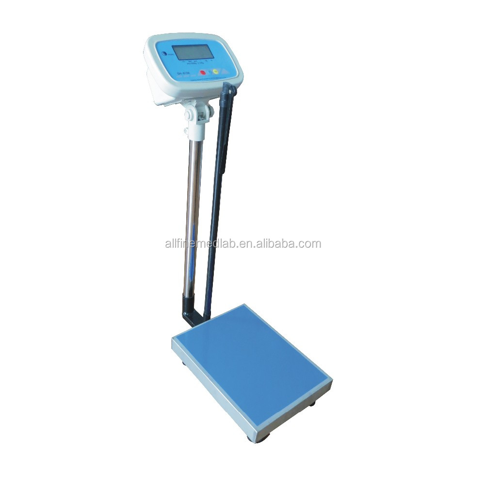 Hospital Digital Weighing Scale 200KG With Height Meter