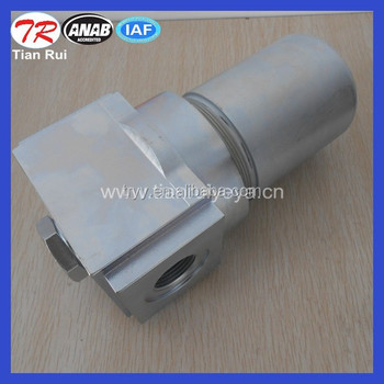 Aluminum hydraulic in line oil filter housing YPM420