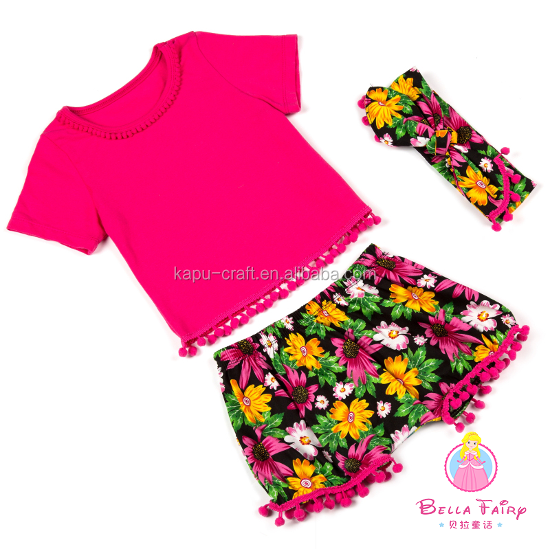 wholesale children's boutique clothing kids girls clothes with polk dots