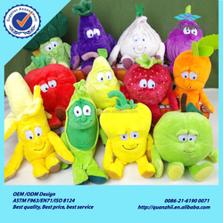 Fruits and vegetables fruits and vegetables plush toy doll garlic, peas. Sydney, cherry