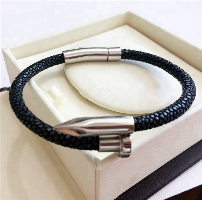 Best Sale Luxury Genuine Stingray Leather Bracelet _4