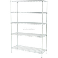 NSF Adjustable 5 Tiers Metal Chrome Wire Shelving Storage Shelf