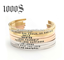 Wholesale Fashion Jewelry Costume Stainless Steel Cuff Bracelet,Engraved Bracelets