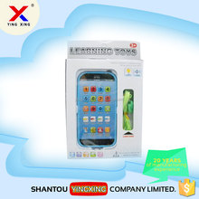 plastic English learning touch screen smart phone toy