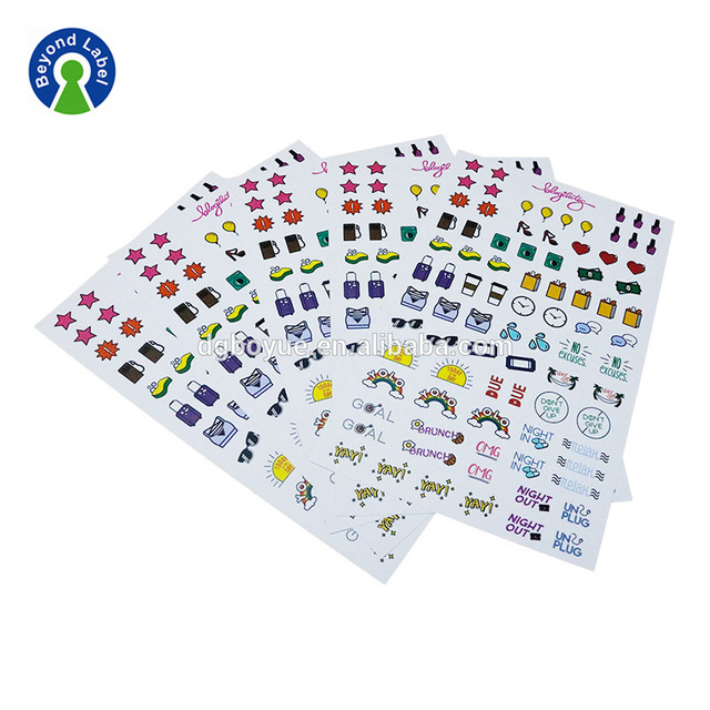 Custom Adhesive Full Sheet Product Labels Stickers Printing, Kiss Cut Finish