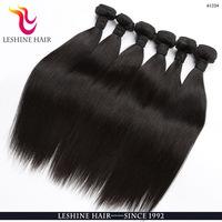 Straight Brazilian Hair Raw Unprocessed Virgin Indian Hair Extension Ladies Style