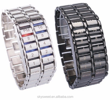 Support mix wholesale binary led lave watch,stainless steel man watch(SWTPR1028)