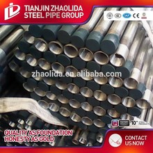 GI pipes and fittings galvanized carbon steel thread seamless pipe nipple npt double wall pipe