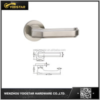Wenzhou good hold feeling stainless steel/SS 304 lever handle with rose for wood door