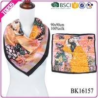 TOROS wholesale hangzhou custom silk scarf 90x90