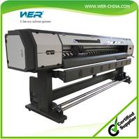Cheap 2.5m WER ES2502I,eco solvent printer with dx7 print head