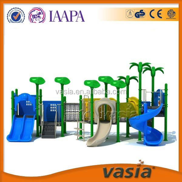 Kids outdoor playhouse and playground slides for sale