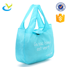 Wholesale eco 190T polyester foldable supermarket cart shopping ball bags big with custom logo