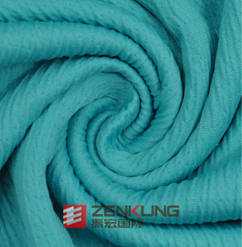 100% Polyester Jacquard good elastic knitted fabric