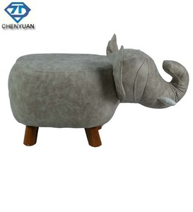 Children Wooden Animal footstool Fitting Room animal shape leather shoes changing stool
