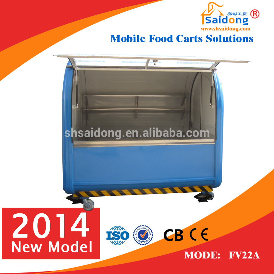 Customized made commercial mobile food vending carts/hot dog cart for sale