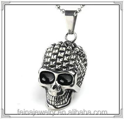 2016 stainless steel skull pendant custom made stainless steel jewelry initial pendants (HTX-029)