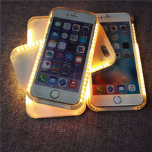 2016 trending products lumee selfie LED light up mobile phone case for iphone 6 6s plus case