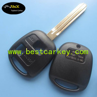 Topbest 2 button remote key blank TOY43 car blank key
