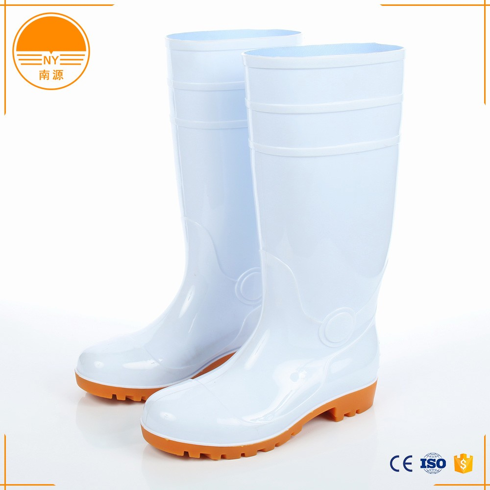 White PVC Food Working Safety Boots