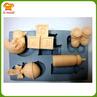 baby shower shoe nipple bottle duck and letter block silicone chocolate fondant baking mold