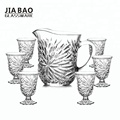 New Design popular high quality 7pcs glass jug set