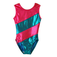 latest fashion high quality red sleeveless gymnastics leotards sexy girls customized design