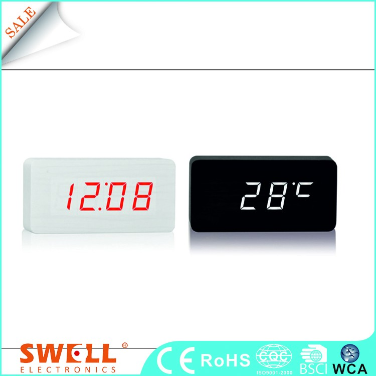 digital led glow display desk smart alarm clock