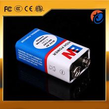 Hot sale dry cell 6f22 9v battery with long life span