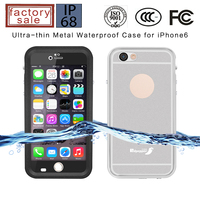 Aluminum Metal Case Gorilla Glass for iPhone, Ultra-thin Aluminum Case for iPhone6 6s