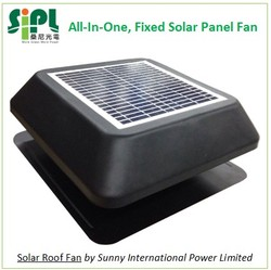 Solar Panel Powered 14 inch Roof Standing Air Ventilation Fan (HVAC New Product)