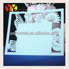 new design customized beautiful elegant paper laser cut wedding birthday party handmade thank you card samples wholesale TYC008