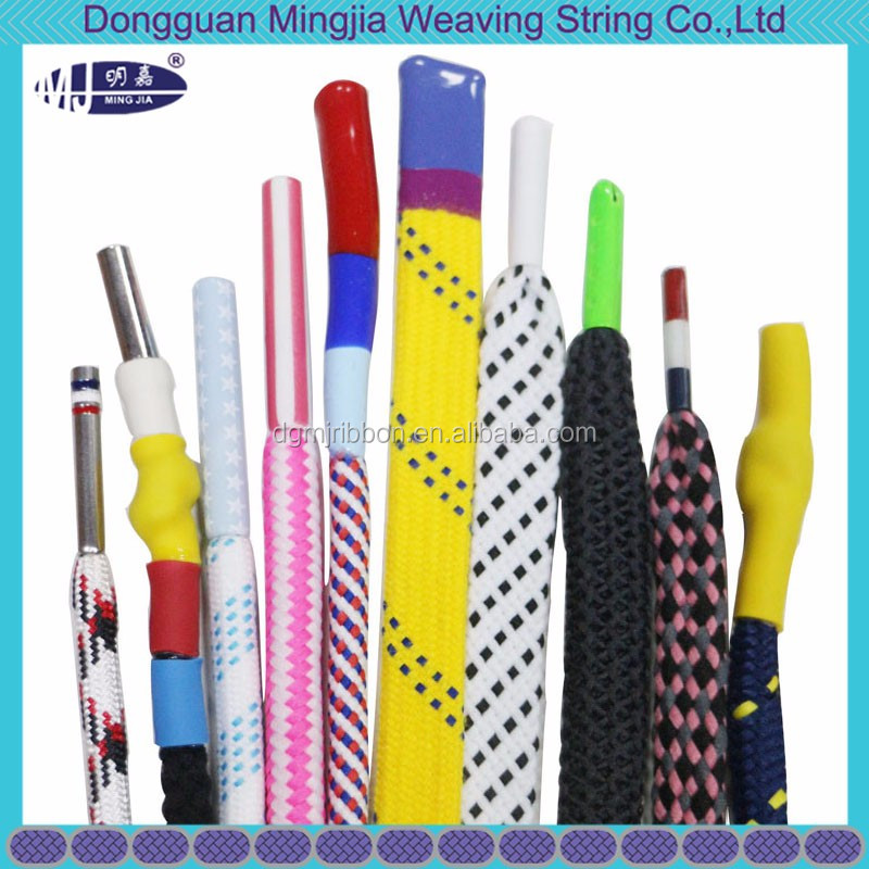 thick braided draw cord string with silicon dipped end