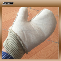 Car Care Cleaning Tool Short Sheeps wool car wash mitt in China