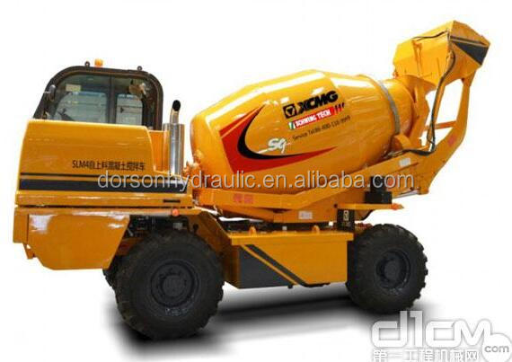 2016 xcmg New Design High-efficiency Mini Self Loading Concrete Mixer Truck 4CBM