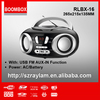 Portable bluetooth CD boombox CD player boombox with am/fm and USB Aux-in