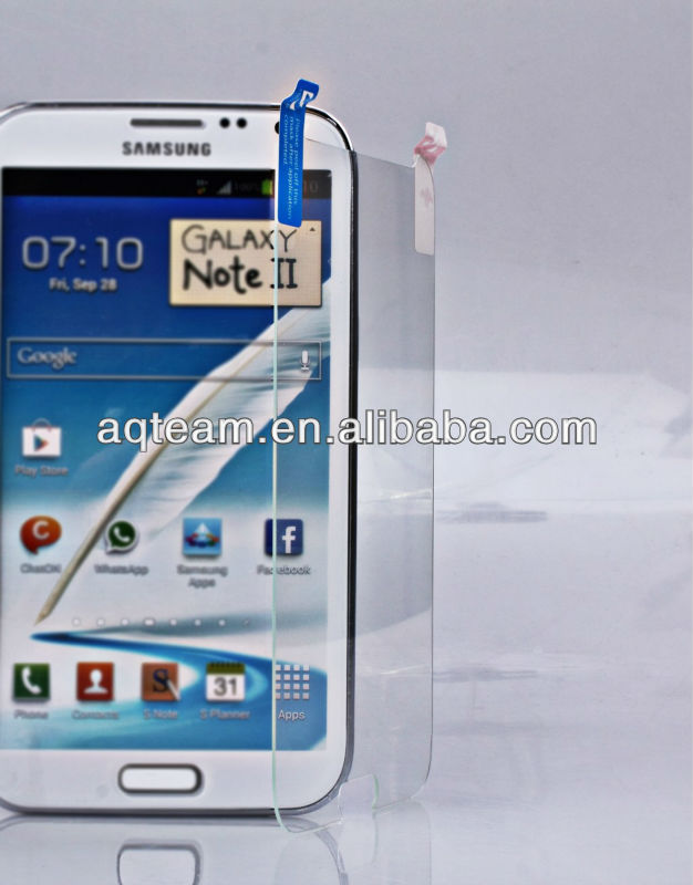 Perfect Adhesively Anti-Scratch Premium Tempered Glass Screen Protector for Samsung Galaxy Note 2 N7100