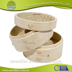 2014 Nature 3 tiers commercial food steamer bamboo steamer the steamed stuffed bun use