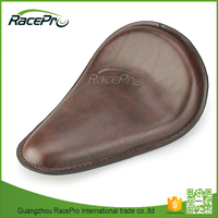 Custom Chocolate Brown Slimline Front Solo Seat for Harley Bobber Chopper
