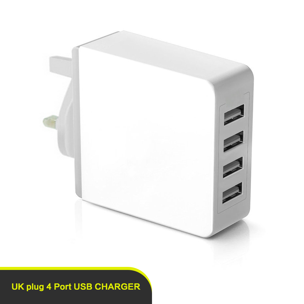 Portable Multi USB 4 Port Desktop Charger/ Rapid Charging Station with usb for Android Mobile Phone and Tablets