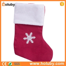 2016 Hot sale snowflake wholesale Christmas stockings for decoration