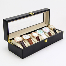 High Quality Customized Luxury Painting Wooden Display 6 Grid Watch Box case For packaging Box