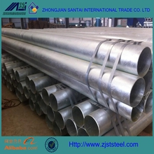 Q235A welded galvanized steel pipe for Low pressure fluid conveying