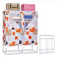Portable Bedroom Solid Stable Easy Assemble Waterproof Wardrobe