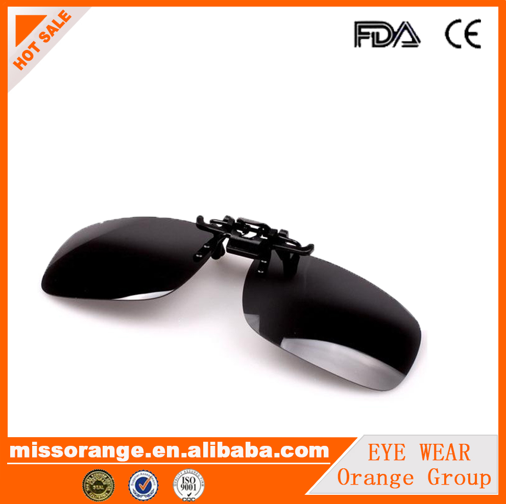 black lens match with short sight glass clip sun glasses