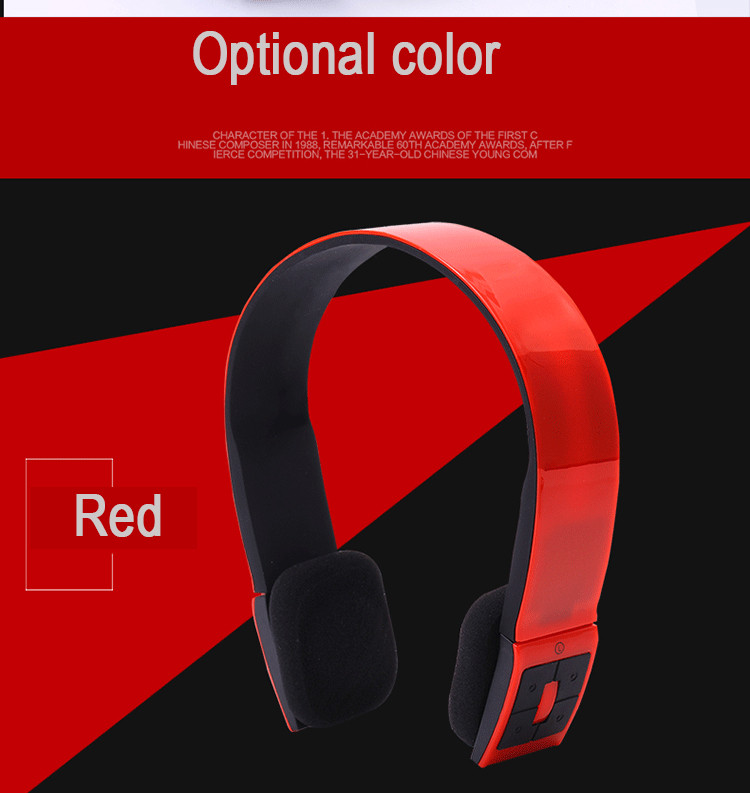 High Quality Casque Audio Bluetooth Headphone Wireless Head Phones Bluetooth V3.0 Oreillette Headset With MIC For PC Smartphone