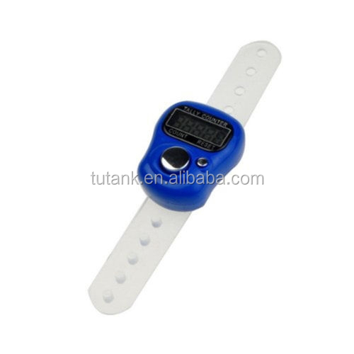 Digital LCD Electronic Finger Ring Hand Tally Counter Row Counter