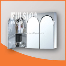 Tri-view Stainless Steel Mirror Cabinet