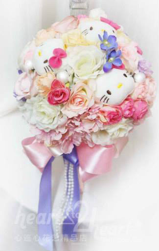 Handmade Artificial Bridal Bouquet With Soft Toy
