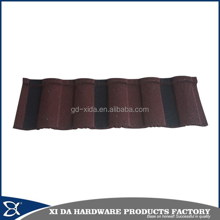 Stone coated metal roof tile/Guangzhou roof steel sheet stone coated roof tile/sun stone coated metal roof tile
